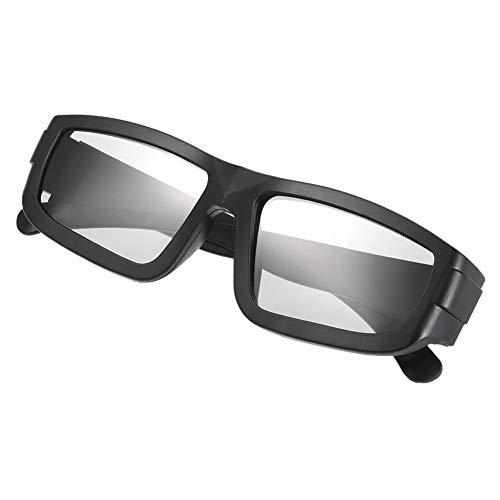 Passive 3D-Brille Circular Polarized Lenses Für Polarisiertes Fernsehen Real D 3D Cinemas Für LG (Color : Black)