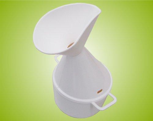 Inhalator für Heilpflanzenöl Gesichtssauna Dampfinhalator Inhalierhilfe bei Erkältung Farbe:weiß *Top-Qualität zum Top-Preis*
