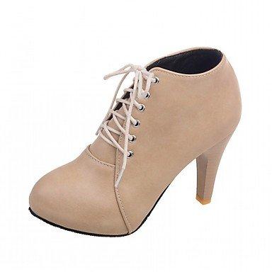 RTRY Scarpe Donna Pu Similpelle Autunno Inverno Comfort Novità Moda Stivali Stivali Stiletto Heel Round Toe Stivaletti/Stivaletti Lace-Up Per US10.5 / EU42 / UK8.5 / CN43
