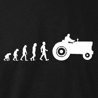 TEXLAB - Traktor Evolution - Langarm T-Shirt Weiß