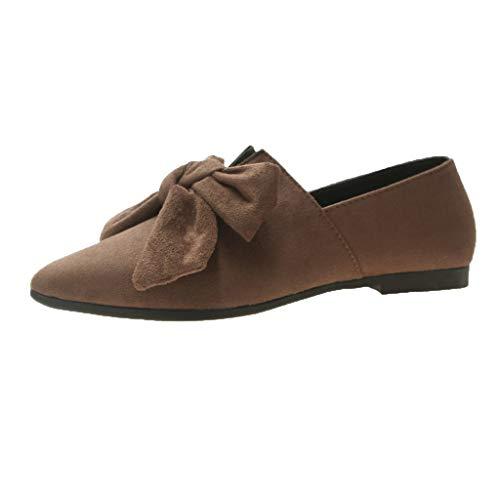NMERWT Damen Modische Pumps Flats Party Schuhe Frauen Bow Flats Schuhe Candy Farbe Slip On Flache Schuhe Ballerinas Damen Schuhe -