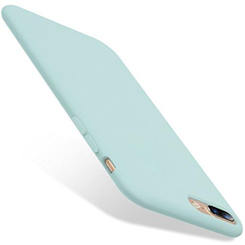 TORRAS iPhone 8 Plus Hülle/iPhone 7 Plus Hülle [Love Serie] Silikon Gel Rubber HandyHülle Stoßfestes Shockproof Case mit Einem weichen Mikrofasertuch Futter Kissen für iPhone 8 Plus/7 Plus - Mint
