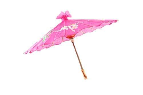 Petit Chinoises / Japonais Floral Parasol Geisha Parapluie - 58cm diamètre - Vert, 58cm