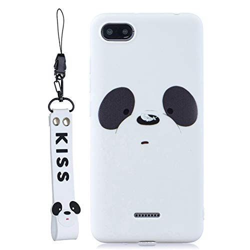 EuCase Funda Xiaomi Redmi 6A Silicona Dibujos Carcasa Redmi 6A Antigolpes Suave TPU Flexible Goma Ultra Delgada Ultrafina Goma Cubierta Protector Bumper Case para Caja Tapa Carcasa Oso