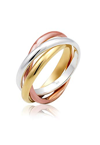 Elli Damen Ring Wickelring Trio Basic Blogger Trend in 925 Sterling Silber
