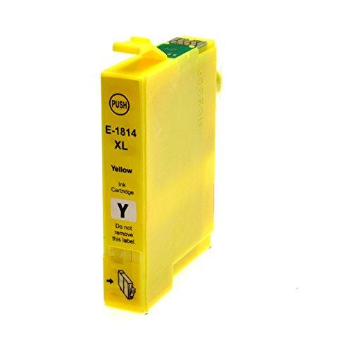 Tintenpatrone für Epson T1814XL Gelb - Gelb, 18 ml, kompatibel zu C13T18144010. Expression Home XP30, XP102, XP202, XP205, XP302, XP305, XP402, XP405.