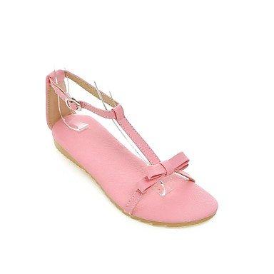 LvYuan Da donna Sandali Comoda Finta pelle Primavera Estate Casual Formale Footing Comoda Fibbia Piatto Oro Bianco Argento Rosa Piatto White