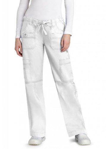 Barco-scrub-hose (ADAR UNIFORMS  Damen OP-Hose Weiß Weiß)