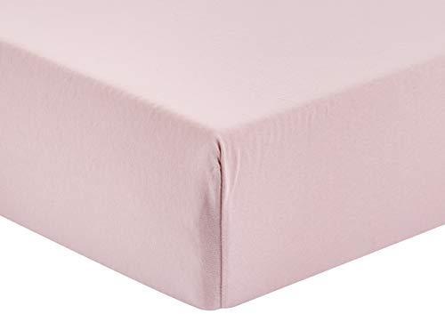 TOM TAILOR 0077788/841/041/778 Jersey-Spannbetttuch 100% Baumwolle, 140 x 200 cm-160 x 200 cm, rose, 37 x 27 x 3 cm -