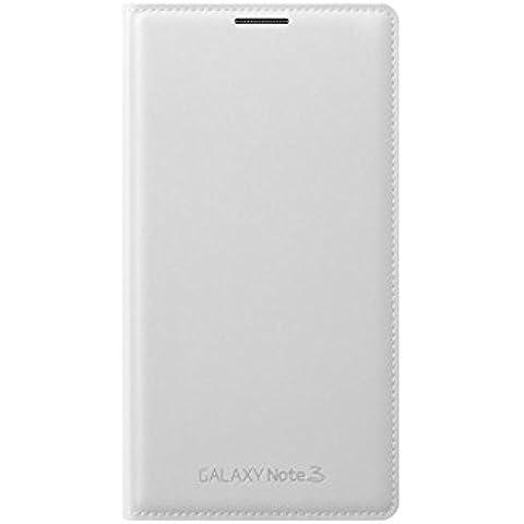 Samsung Wallet Flip - Funda para móvil Galaxy Note 3 (Incluye bolsillo interior para tarjeta), blanco