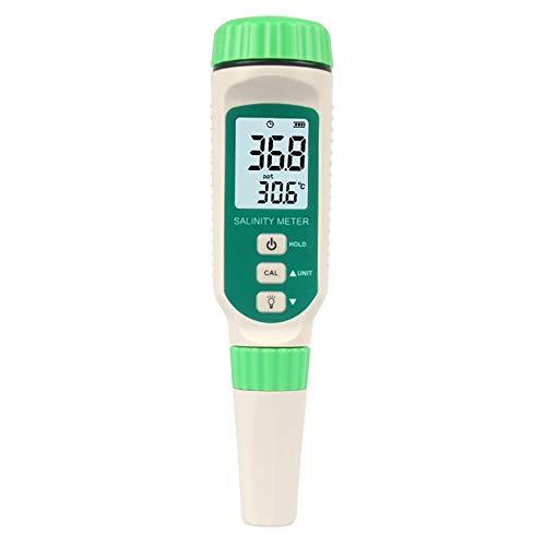 AILOVA Salzgehalt Tester,Wasserqualität Salzwasser Meter Tester Wasserqualität Tester IP65 wasserdicht für Hydroponik Garten Aquarium -