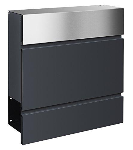 Frabox LENS Edelstahl / Anthrazitgrau Design Briefkasten - 2