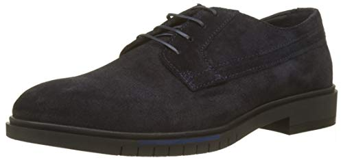 Tommy Hilfiger Herren Flexible Dressy Suede Shoe Oxfords, Blau (Midnight 403), 43 EU