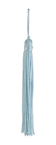 Lot de 10 Bleu clair chainette Tassel, 10,2 cm de long avec bordure 2,5 cm Loop, Basic Collection Style # Rt04 Couleur : bleu arctique – N14