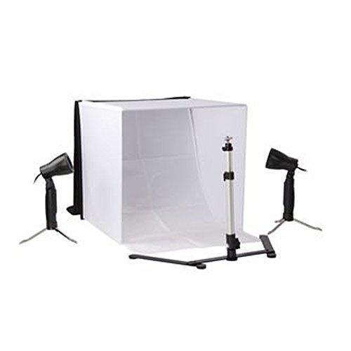 24in Top Square (Ein Foto-Räder Mesen Neue Berufs 40x40x40cm Platz Portable Fotostudiobeleuchtung Kits Kit mit Zelt + Licht + Stativ +4 Farbhintergrund mit Soft-Tragetasche)