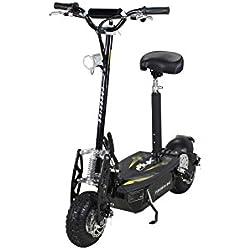 Patinete eléctrico, E-Scooter , eFlux Freeride con 48 Volt 1000 Watios (blanco) (naranja (negro)
