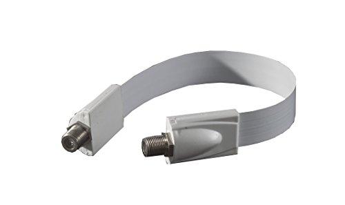 Smart-Planet hochwertiges und nützliches sehr dünnes Sat Kabel für Fenster Türen etc. - High Tech-Fenster / Türen Durchführung SAT Kabel - Durchführung F-Buchse - extrem flach - Länge: 21cm