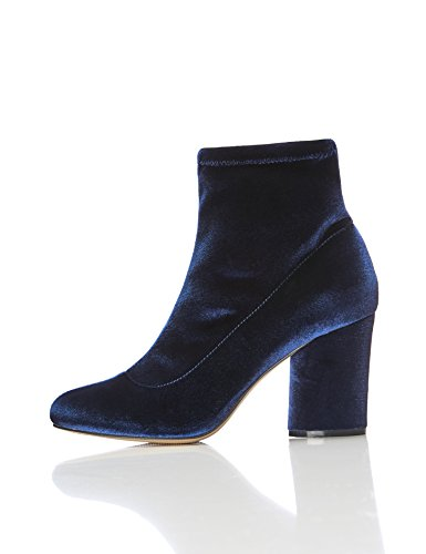 FIND Bottines Stretch Femme, bleu marine 38 EU