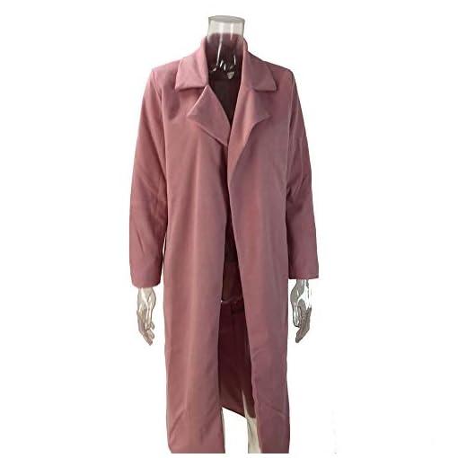 Felicove-Damen-StrickjackeRevers-Parka-Jacke-Strickjacke-Mantel-Outwear-Plsch-Mntel-Jacken-Parka-Warme-Strick-Mantel-Strickjacke-Basic-Baumwolle-Pullover-Damen-Plsch-Outerwear-Weihnachten
