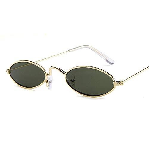 YUHANGH Vintage Kleine Ovale Sonnenbrille Mode Frauen Männer Metallrahmen Klar Rosa Lens Shades Sonnenbrille Eyewear Sunglass