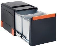 Franke Sorter Cube 41 ouverture manuelle, système de tri sélectif des déchets, 2 poubelles de 8 l, 1 poubelle de 18 l - 1340055271 - 8 Cube