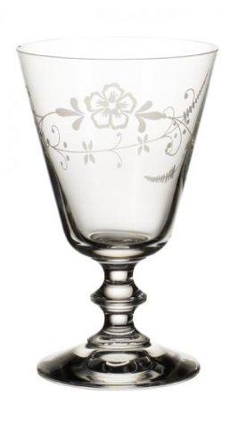 Villeroy & Boch - verre à vin rouge Vieux Luxembourg, verre à pied décoré en cristal, compatible lave-vaisselle, court, parois fines, clair, 240 ml