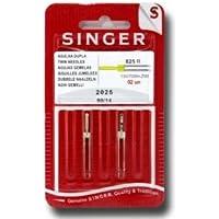 Singer Agujas dobles para máquina de coser (distancia: 3)