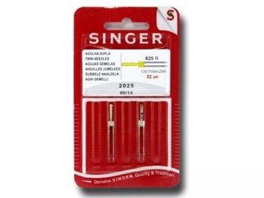 Singer N202514B02825R Zwillingsnadel 2025 90/14 3mm Nadel, Metall, Silber, 7 x 0,03 x 4 cm