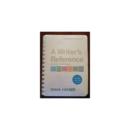 Writer's Reference 6e with 2009 MLA and 2010 APA Updates & Exercise CD-ROM 6th edition by Hacker, Diana (2010) Plastic Comb