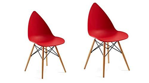 mobilier nitro Chaise Design Fabia Rouge Lot de 2