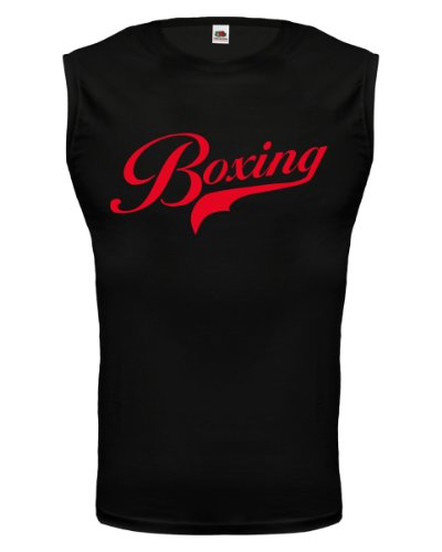 buXsbaum® Tank Top Boxing Logo Black-Red