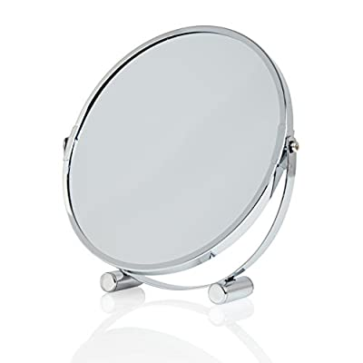 Lumaland hochwertiger Kosmetikspiegel Standspiegel 5fach Vergrößerung