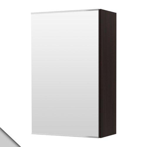 Ikea LILLÅNGEN - Armario de Espejo con 1 Puerta, Color Negro y marrón