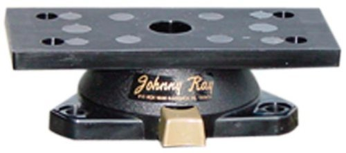 Johnny Ray JR-500 Marine 1.25 by 3.5-Inch Push-Button Release Portable Sonar Swivel Mount, Black Finish by Johnny Ray - Portable Push-button
