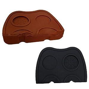 Diuspeed Silikonkissen, Anti Skid Silikon Kaffee Tamper Mat Kaffee Tamp Mat Bequem Kaffeepulver Pad Küchenzubehör für Küche nach Hause