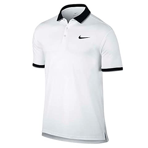 Nike 830849-100 Polo Homme, Blanc/Noir/Cool Grey/Noir, FR : S (Taille Fabricant : S)