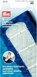 Prym elastische Betttuchspanner, verstellbar, 3 Stück Test