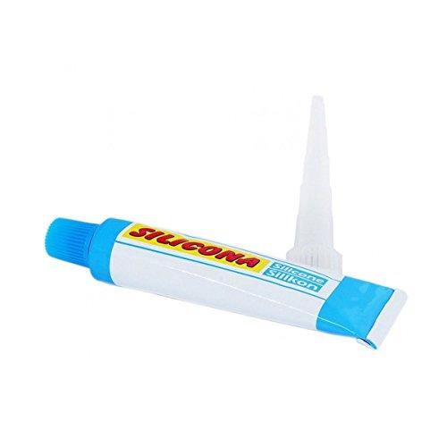 Trade shop traesio tubetto mini cartuccia colla silicone sigillante bianca bianco universale 30 ml