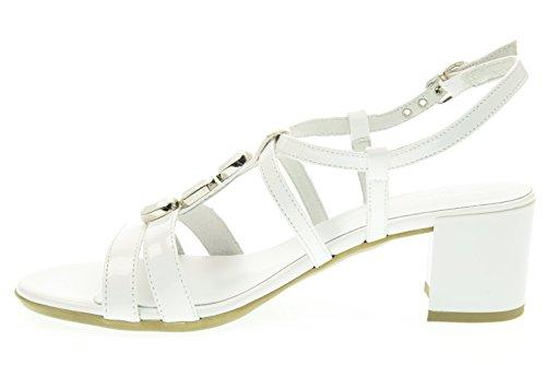 BLACK GARDENS Sandalen Frau mit P615540D / 707 Heel Bianco