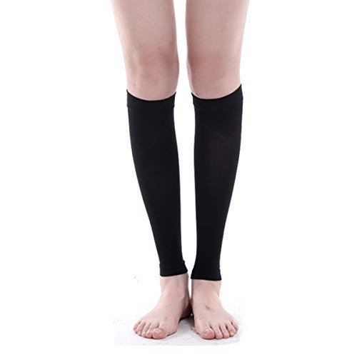 1 Pair Leg Compression Sleeve Women,Leg Compression Socks,Leg Compression Tights,Leg Shaper Wrap Socks, Leg Sleeve Shin Support for Teenager and Adult Unisex (black)
