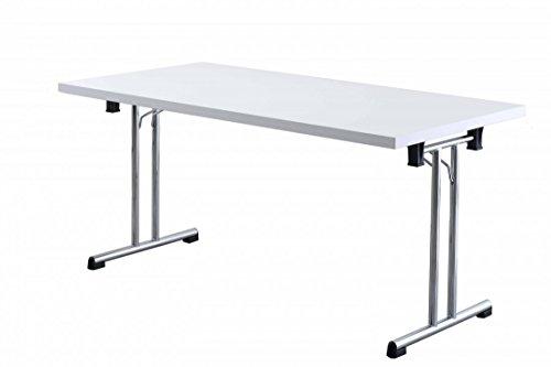 Büro-Klapptisch DR-Büro - Maße 160 x 80 cm - 2 Farbvarianten - Höhe einstellbar 73,5 cm -...