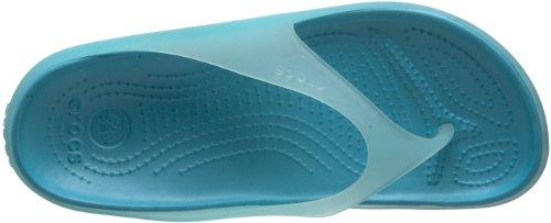 Crocs Carlie Flip, Damen Sandale Blau/SeaFoam/Aqua