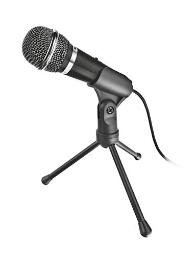 Trust Voca - Micrófono para PC, Color Negro