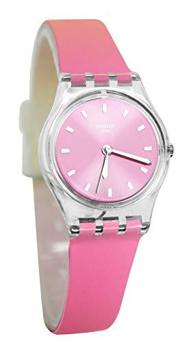 Swatch Damen Analog Quarz Uhr mit Silikon Armband LK380