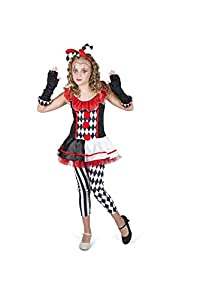 Karnival Costumes- Halloween Harlequin Girl Disfraz, Multicolor, extra-large (84543)