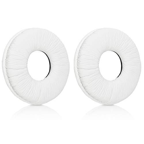 kwmobile 2X Almohadillas para Auriculares Sony MDR-V150 / V250 / V300 - Almohadilla de Repuesto de [Cuero sintético] para Cascos