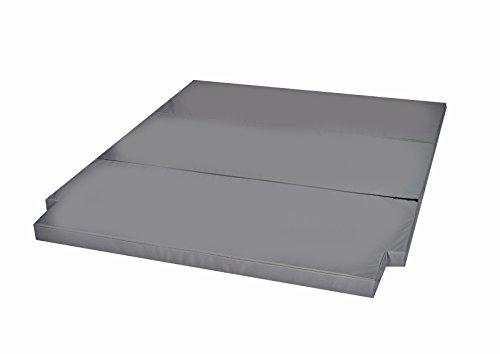 Preisvergleich Produktbild Schlafauflage große Faltmatratze geeignet für T5 T6 California Beach Matratzenauflage 190x150x6 cm MH-SAVWCB Grau