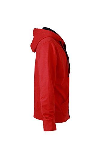 James & Nicholson Herren Urban Sweat Sweatshirt Rot (Tomato/Navy)