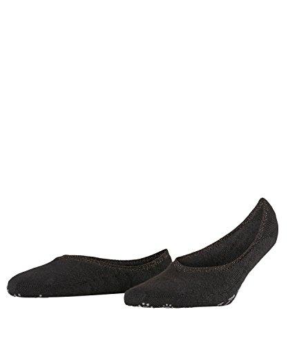 FALKE Damen Ballerina Stoppersocken ABS Merino-Mischung Sohle 1 Paar Leichte, wärmende Füßlinge, Blickdicht, Black, 39-40