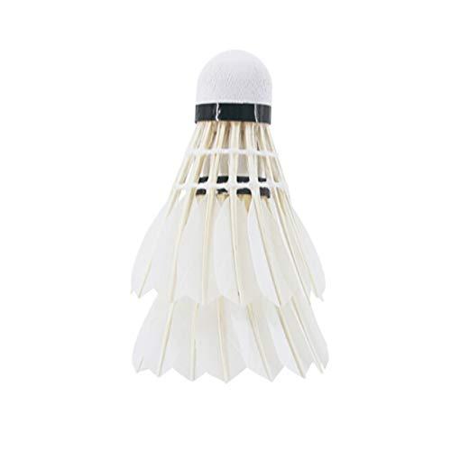 HUIJUNWENTI Badminton , Hochgeschwindigkeitsbadminton mit ausgezeichneter Stabilität und Haltbarkeit for professionelle Wettkämpfe (12 Schläger) (Color : White)